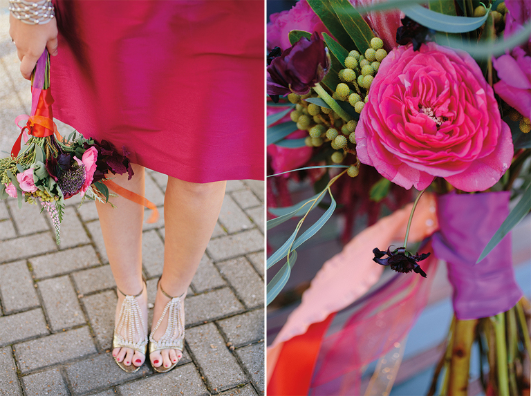 pink-bridesmaid-dress-and-mayflowers