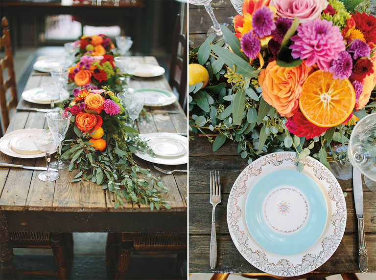 rustic-head-wedding-table-with-summer-florals-and-mixed-place-settings