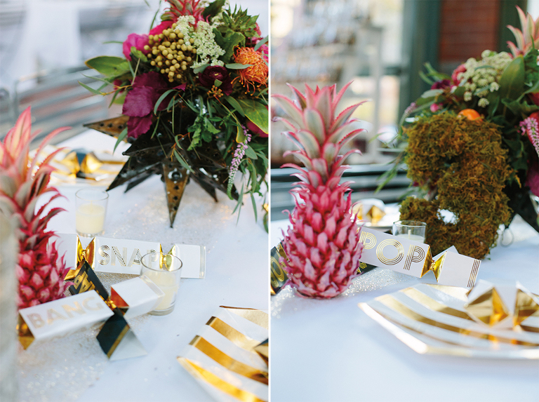 wedding-receptions-with-gold-and-pineapples
